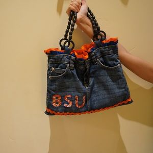 Handbags - BSU Denim Shorts Purse🧡💙